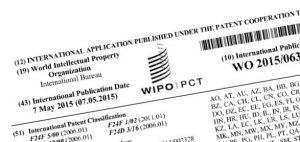 Heading of PCT patent application